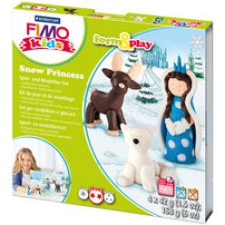 fimo kids kit de modelage form et play snow princess
