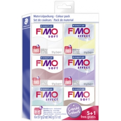 fimo soft modelliermasse set candy colours 51 gratis