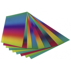folia pochette de papier arc en ciel 225 x 320mm 100gm2