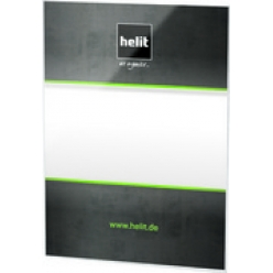 helit porte brochures a aimant the grid a4 transparent