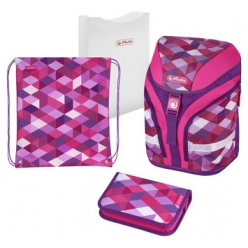 herlitz cartable motion plus pink cubes