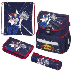 herlitz cartable loop plus comic hero