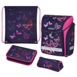 herlitz cartable midi plus rainbow butterfly
