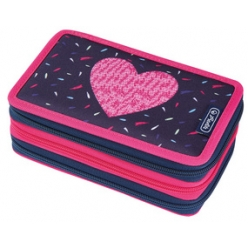 herlitz etui scolaire triple tropical heart