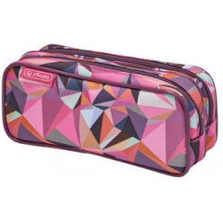 herlitz trousse double wild animals violet