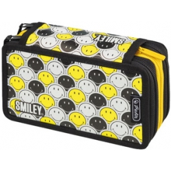 herlitz etui scolaire triple smiley bety faces