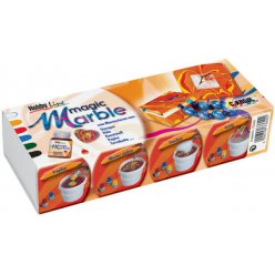 kit de peinture a marbrer magic marble 6x20ml
