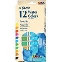 set aquarelle el greco kit de 12x12 ml en tube