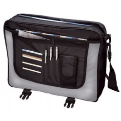 lightpak sac a bandouliere wave polyester noirgris