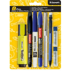 luxor kit de stylos home et bureau pack 8 pieces