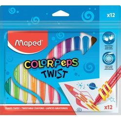 maped wachsmalstift color peps twist 12er polybeutel