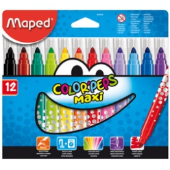 maped feutre color peps maxi etui carton de 12