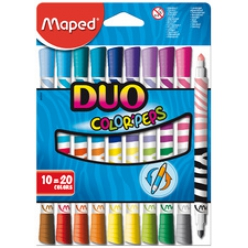 maped feutre double pointe duo color peps etui de 10