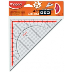 maped equerre geo technic hypotenuse260 mm en plastique
