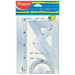 maped kit geometrie medium start 242 4 pieces tranparent