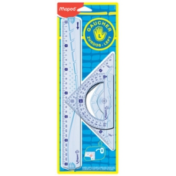 maped kit geometrie pour gauchers 4 pieces transparent