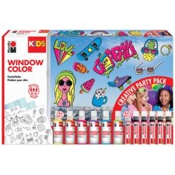marabu kids kit window color party pack 6 x 80 ml