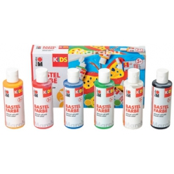 marabu kids bastelfarbe 80 ml 6er set