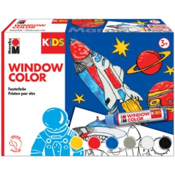 marabu kids window color set weltall 6 x 25 ml
