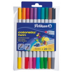 Pelikan feutre couleurs colorella Twin, rond, etui de 10