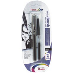 pentelarts pinceau brush pen incl 2 cartouches de rechange