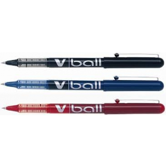 PILOT 085420 // BL-VB5-L noir largeur de trac/é: 0,3 mm Stylo roller /à encre VBall VB 5 pointe m/étal