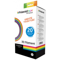 polaroid filament play 3d pen 20 couleurs assorties