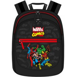 sac a dos noir marvel comics