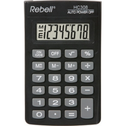 rebell calculatrice de poche hc 308 noir