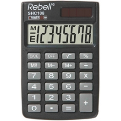 rebell calculatrice de poche shc 108 noir