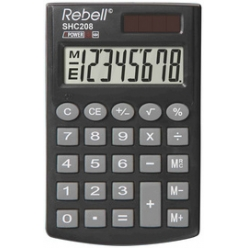 rebell calculatrice de poche shc 208 noir