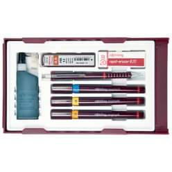 rotring kit isograph college set 02 mm035 mm07 mm