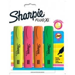 sharpie surligneur highlighter fluo xl blister de 2