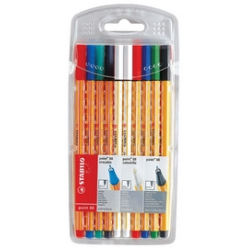 stabilo fineliner point 88 point 88 effacable etui de 10