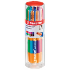stabilo roller a encre gel pointvisco pot de 10 pieces