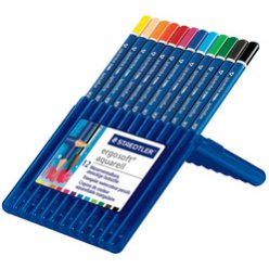 crayon aquarellable ergosoft aquarelle box de 12