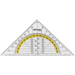 westcott geodreieck hypotenuse 140 mm transparent