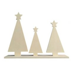 sapins de noel a decorer 3 pieces