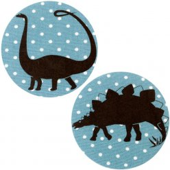 patchs thermocollants dinosaure n2 pois bleu 2 pieces