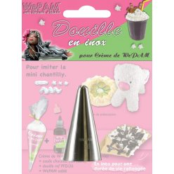 douille en inox fausse chantilly imitation mini chantilly