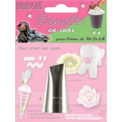 douille en inox fausse chantilly creation de mini rose