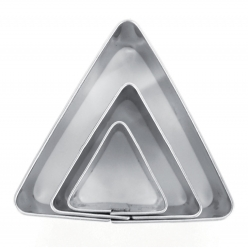 emporte pieces metal triangle 3 pieces