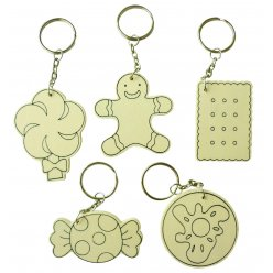porte cles gourmandise 10 pieces
