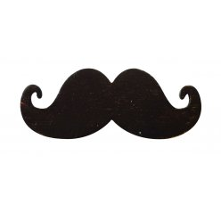moustaches adhesives en bois 17mm 8 pieces