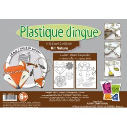 kit plastique dingue bijoux collier nature