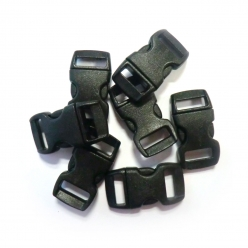 fermoirs clips plastique ideal creacord 3 x 15 cm noir x100