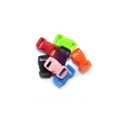 fermoirs clips plastique ideal creacord 3 x 15 cm assort x100