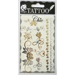 tatouage ephemere tatoo chic  rose