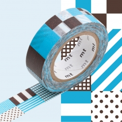 masking tape mt 15 mm raye carre rouge