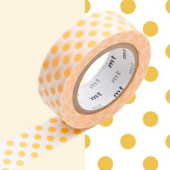masking tape mt 15 mm pois abricot